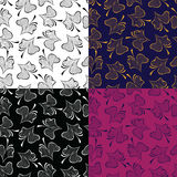 Seamless pattern of image flower petals on colored background. Vector illustration of seamless pattern of image flower petals on colored background Royalty Free Stock Photo