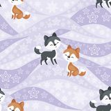 Eskimo dogs seamless pattern Royalty Free Stock Images