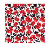 Seamless pattern of image of poppies. Vector illustration of seamless pattern of image of poppies Stock Photos