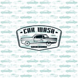 Seamless pattern with image of retro cars Royalty Free Stock Photos