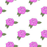 Seamless pattern with the image of roses. Seamless pattern with roses on a white background stock illustration