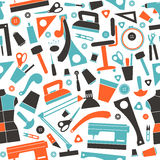 Seamless pattern with image sewing and hobby tools Stock Photo