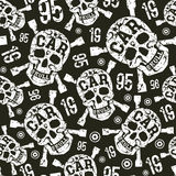 Seamless pattern with image of skull Stock Photo