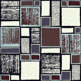 Seamless pattern with the image of squares and rectangles of different sizes, different colors  Royalty Free Stock Images