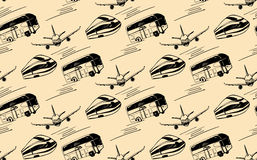 Seamless pattern with the image of transport Royalty Free Stock Images