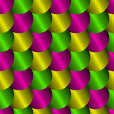 Seamless pattern with imitation of metal scales Stock Image