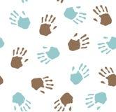 Seamless pattern - imprint hands.Vector Stock Photos