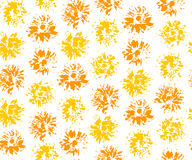 Seamless pattern with imprints of dandelions. Vector illustration Stock Photos