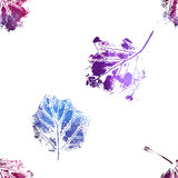 Seamless pattern with imprints of the leaves. Royalty Free Stock Image