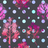 Seamless pattern with imprints of the leaves. Royalty Free Stock Photo