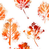 Seamless pattern with imprints of the leaves. Stock Photography