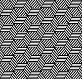 Seamless Pattern In Op Art Design. Stock Photography