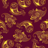 Seamless pattern of indian cucumbers Royalty Free Stock Photos