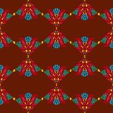 Seamless pattern with indian ethnic elements royalty free illustration