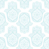 Seamless pattern with Indian hamsa Stock Photography