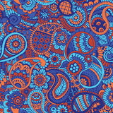 Seamless pattern with Indian ornament Royalty Free Stock Photography
