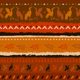 Seamless pattern in Indian style Stock Images
