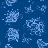 Seamless pattern in Indian style. Components of the pattern made in the form decorative flower. It is depicted in the Royalty Free Illustration