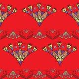 Seamless pattern with Indian stylization lotus Stock Photo