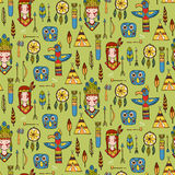 Seamless pattern with indian tribal elements. Stock Photography