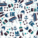 Seamless pattern of industrial fishing Royalty Free Stock Photos