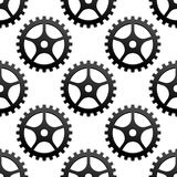 Seamless pattern of industrial gears or cog wheels Royalty Free Stock Photography