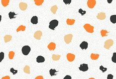 Seamless pattern with ink brush circles. Royalty Free Stock Image