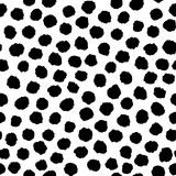 Seamless pattern with ink hand drawn geometric shapes Stock Image