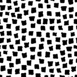 Seamless pattern with ink hand drawn geometric shapes Stock Photography