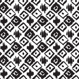 Seamless pattern with ink prints Royalty Free Stock Photos