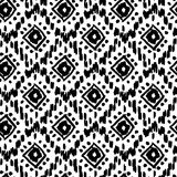 Seamless pattern with ink prints Stock Photos