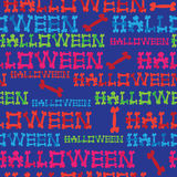 Seamless pattern inscription halloween Royalty Free Stock Photography