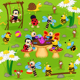 Seamless pattern with insect Stock Image