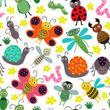 Seamless pattern with insect Stock Photos