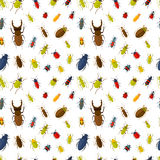 Seamless pattern with insects Royalty Free Stock Images