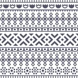 Seamless pattern inspired by scandinavian, finnish folk art. Nordic black and white monochrome background. Repeated. Decoration, texture for fabric design Royalty Free Stock Image