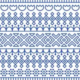 Seamless pattern inspired by scandinavian, finnish folk art. Nordic blue and white background. Repeated decoration. Texture for fabric design Royalty Free Stock Photography