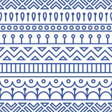 Seamless pattern inspired by scandinavian, finnish folk art. Nordic blue and white background. Repeated decoration. Texture for fabric design Royalty Free Stock Photos