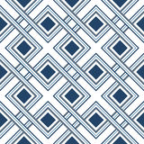 Seamless pattern of interlaced lines. Abstract geometric ornament Royalty Free Stock Photos