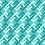Seamless pattern of interlacing lines in retro style. Stock Image