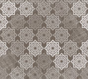 Seamless pattern with interlocking elements Royalty Free Stock Images