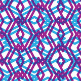 Seamless pattern with intertwine rhombs, colorful geometric Royalty Free Stock Images