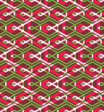 Seamless pattern with intertwine rhombs, colorful infinite geome Royalty Free Stock Image