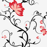 Seamless pattern with intertwining flowers bindweed. Royalty Free Stock Photos
