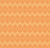 Seamless pattern with interweaving of thin lines. Vector seamless pattern.  Repeating abstract background with circles Royalty Free Stock Photo