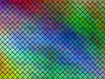 Seamless pattern of interwoven multicolored ribbons vector illustration