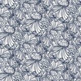 Seamless pattern Irises Art Nouveau Royalty Free Stock Photo