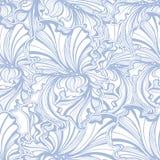 Seamless pattern Irises Art Nouveau Royalty Free Stock Photography