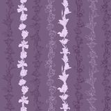 Seamless pattern with irises and roses Royalty Free Stock Photography