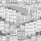 Seamless pattern of Irish style houses Royalty Free Stock Photos
